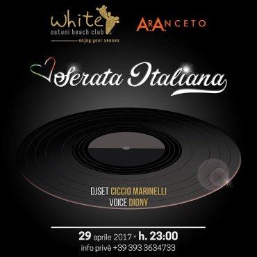 Serata Italiana 29 aprile 2017 White Aranceto