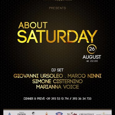About Saturday 26 Agosto