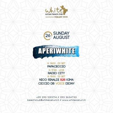 Aperiwhite 26 Agosto