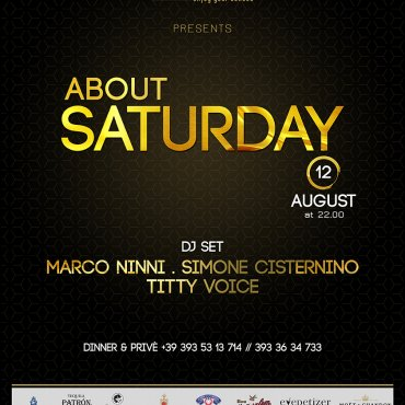 About Saturday 12 Agosto