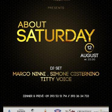 About Saturday 12 Agosto