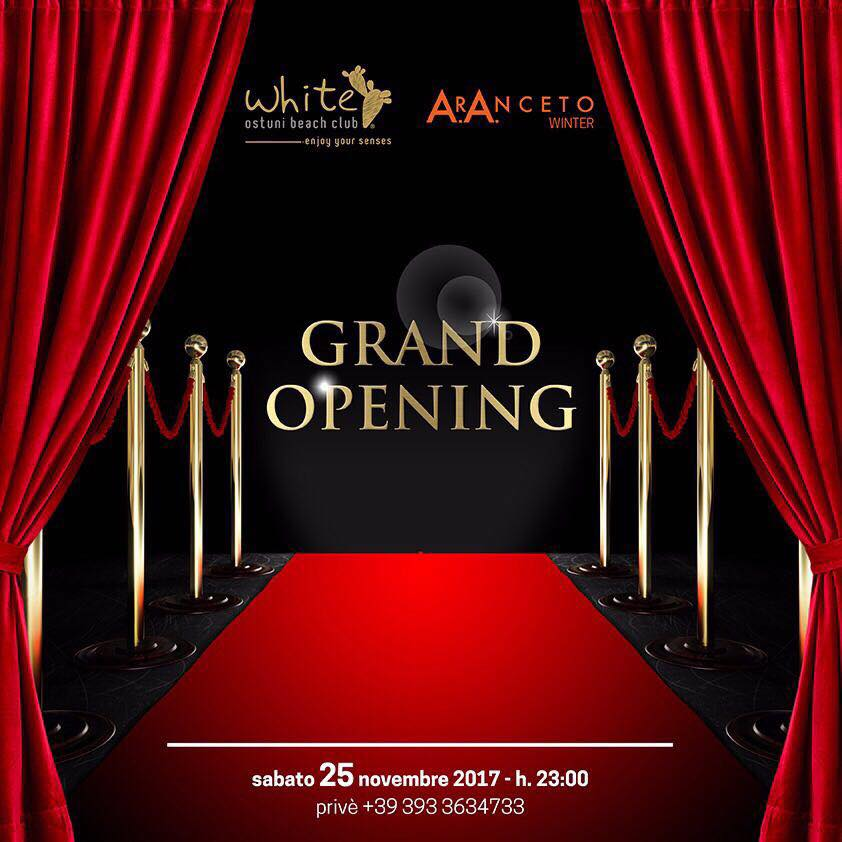 Grand Opening White A.r.Anceto