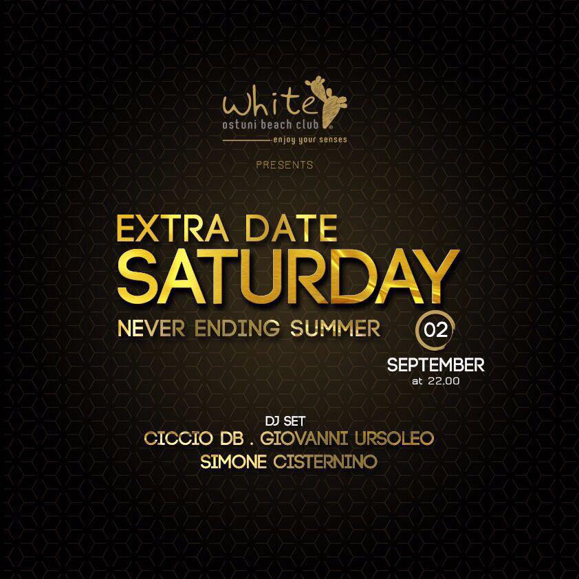 Extra date! Saturday night only White!