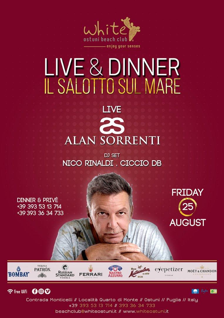 Live&Dinner Il Salotto sul Mare Live Alan Sorrenti
